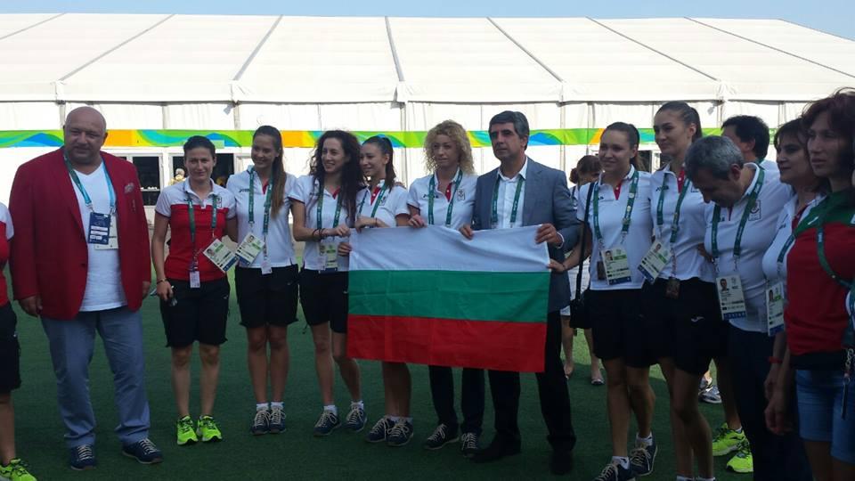 Президентът Плевнелиев се срещна с българските олимпийци в Рио 2016